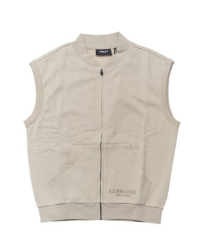 FULL ZIP SWEAT VEST-1